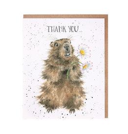 Wrendale Wenskaart - Thank You