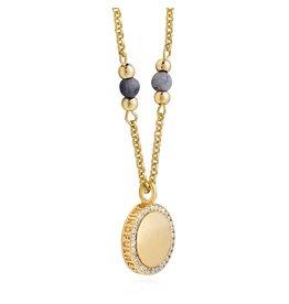 Joma Jewellery Wellness Gems - Blue Agate - Ketting