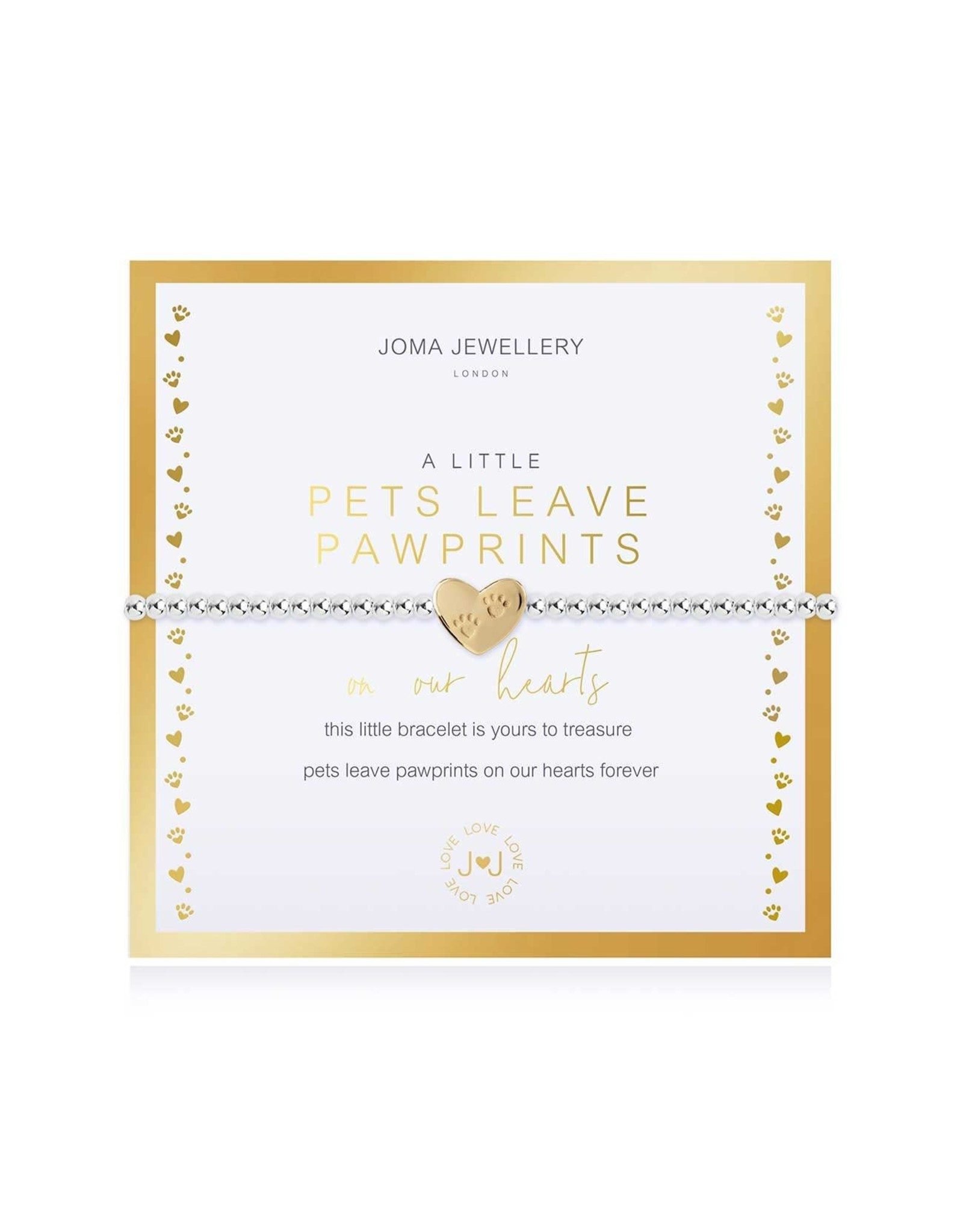Joma Jewellery Boxed A Little - Pets leave a Pawprint