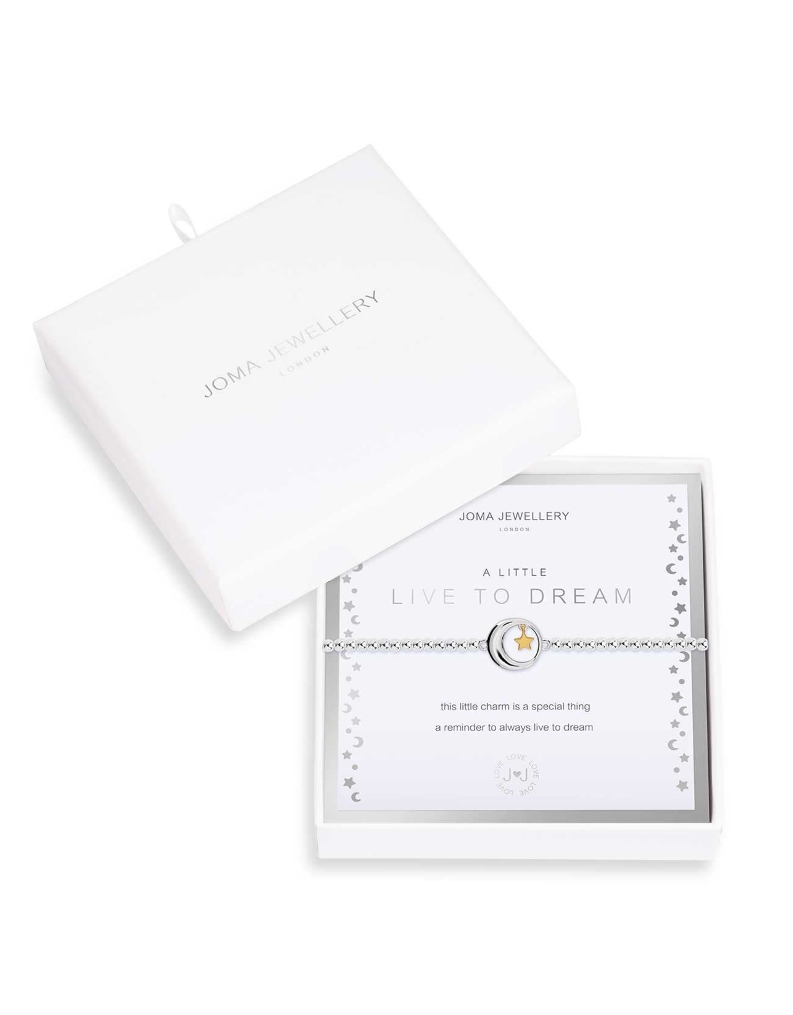 Joma Jewellery Boxed A Little - Live to Dream - Armband