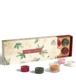 Yankee Candle Magical Christmas Morning - 10 Tea Lights & Holder