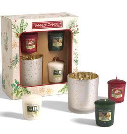 Yankee Candle Magical Christmas Morning - 3 Votives & Holder