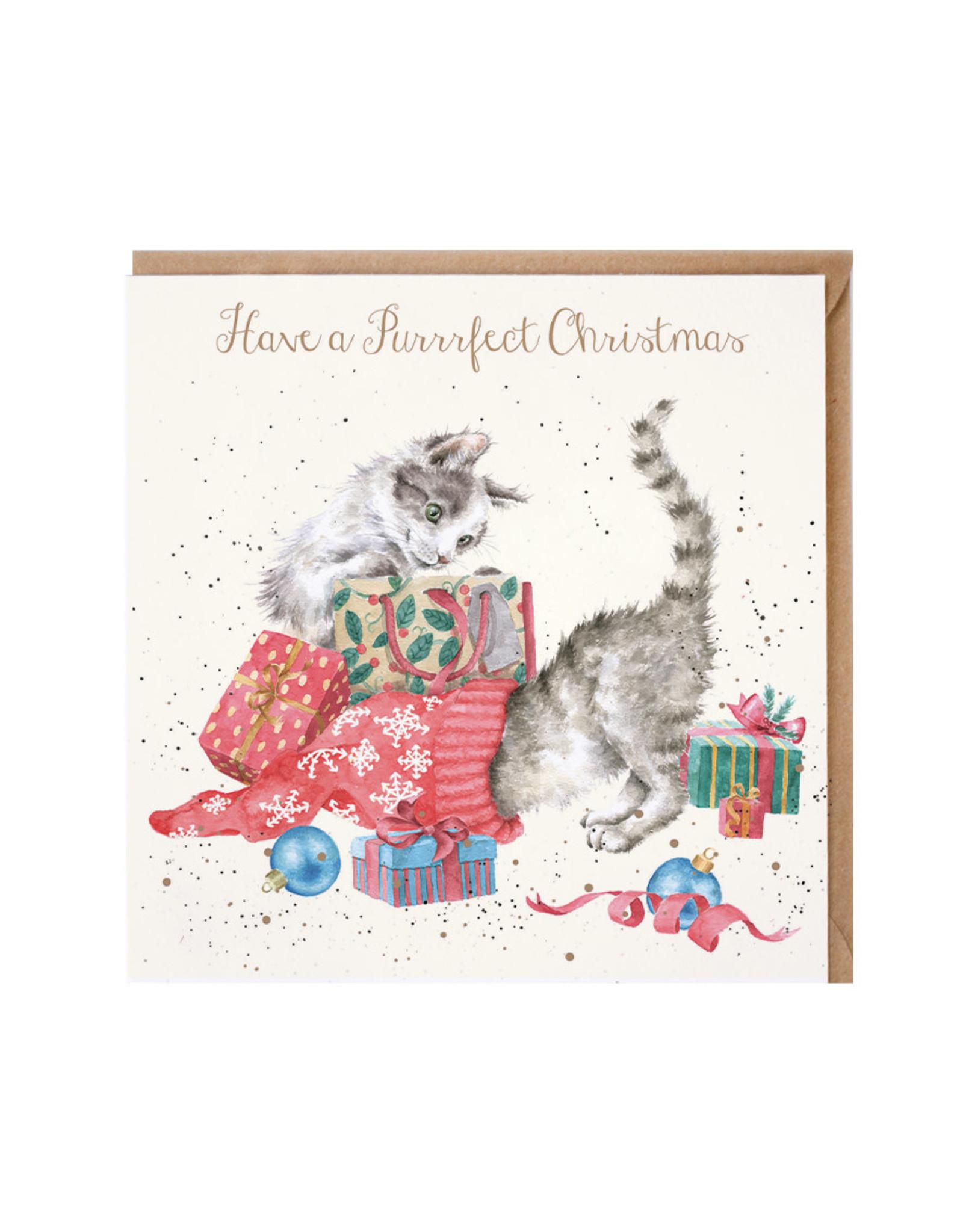 Wrendale Wenskaart - A Purrrfect Christmas