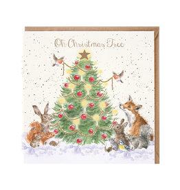 Wrendale Wenskaart - Oh Christmas Tree