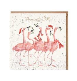 Wrendale Wenskaart - Flamingle Bells
