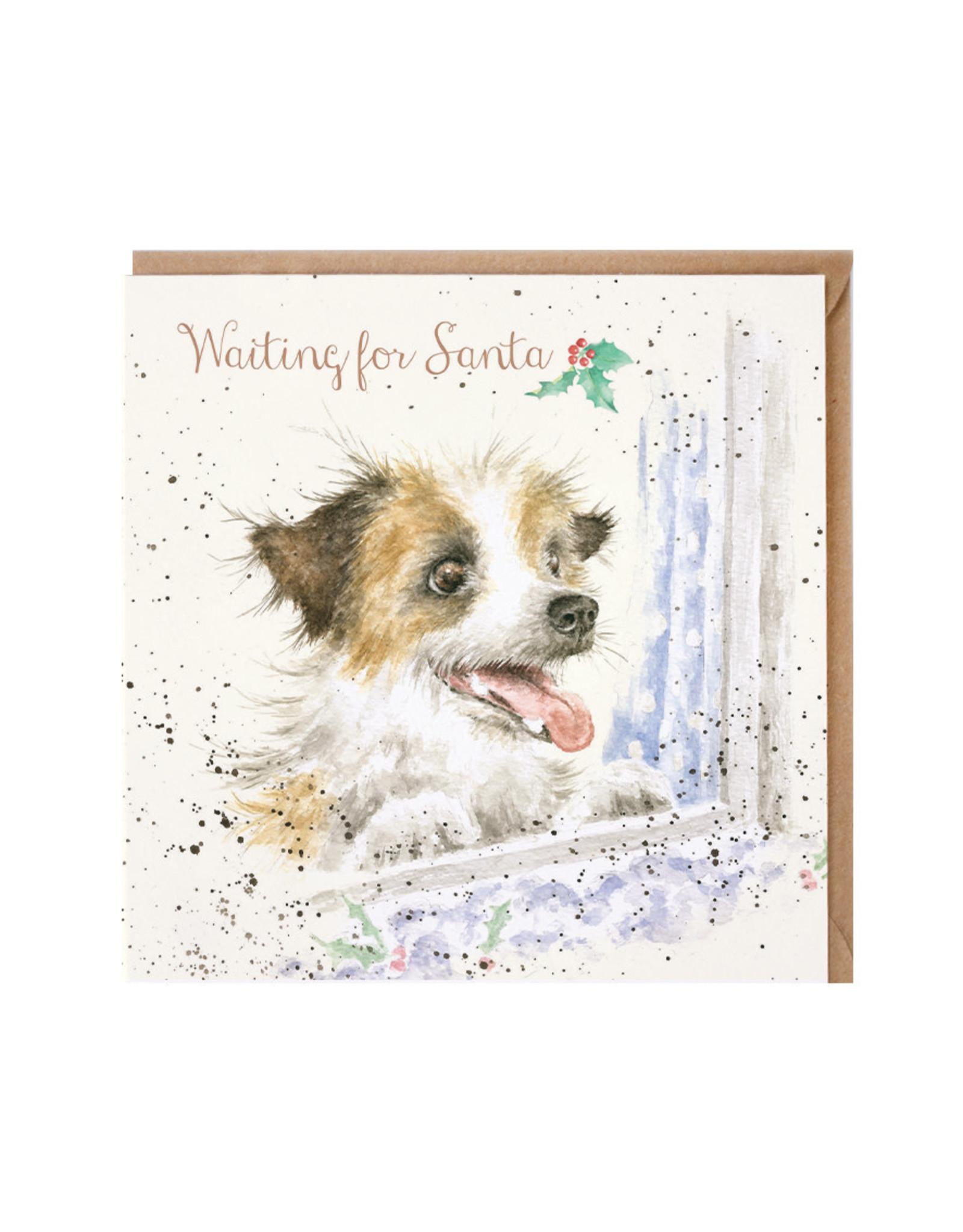 Wrendale Wenskaart - Waiting for Santa