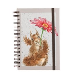 Wrendale Notitieboek - Squirrel  - Flowers Come after Rain A5