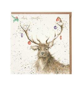 Wrendale Wenskaart - Deer Santa