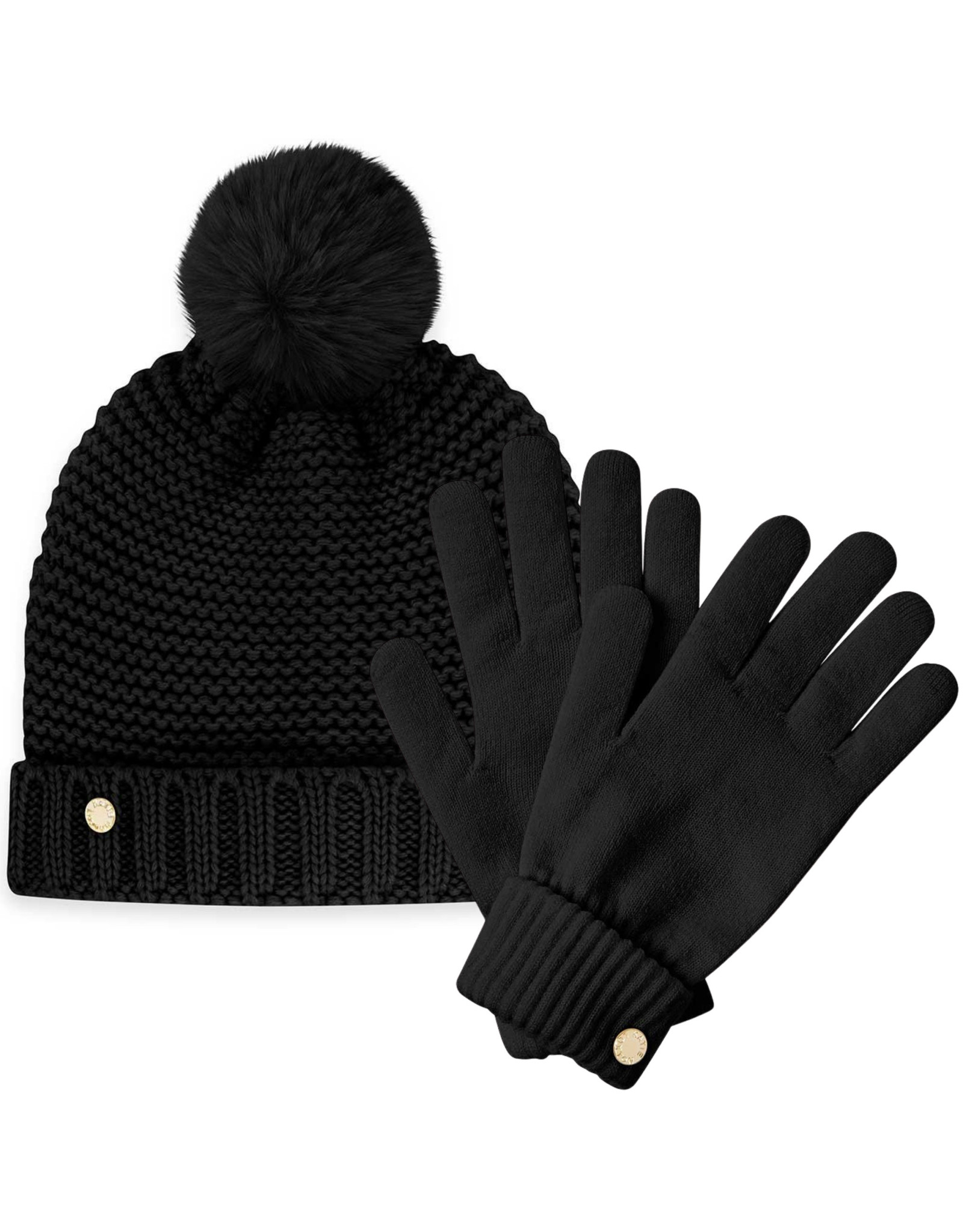 Katie Loxton Muts & Handschoenen - Chunky Knit - Zwart