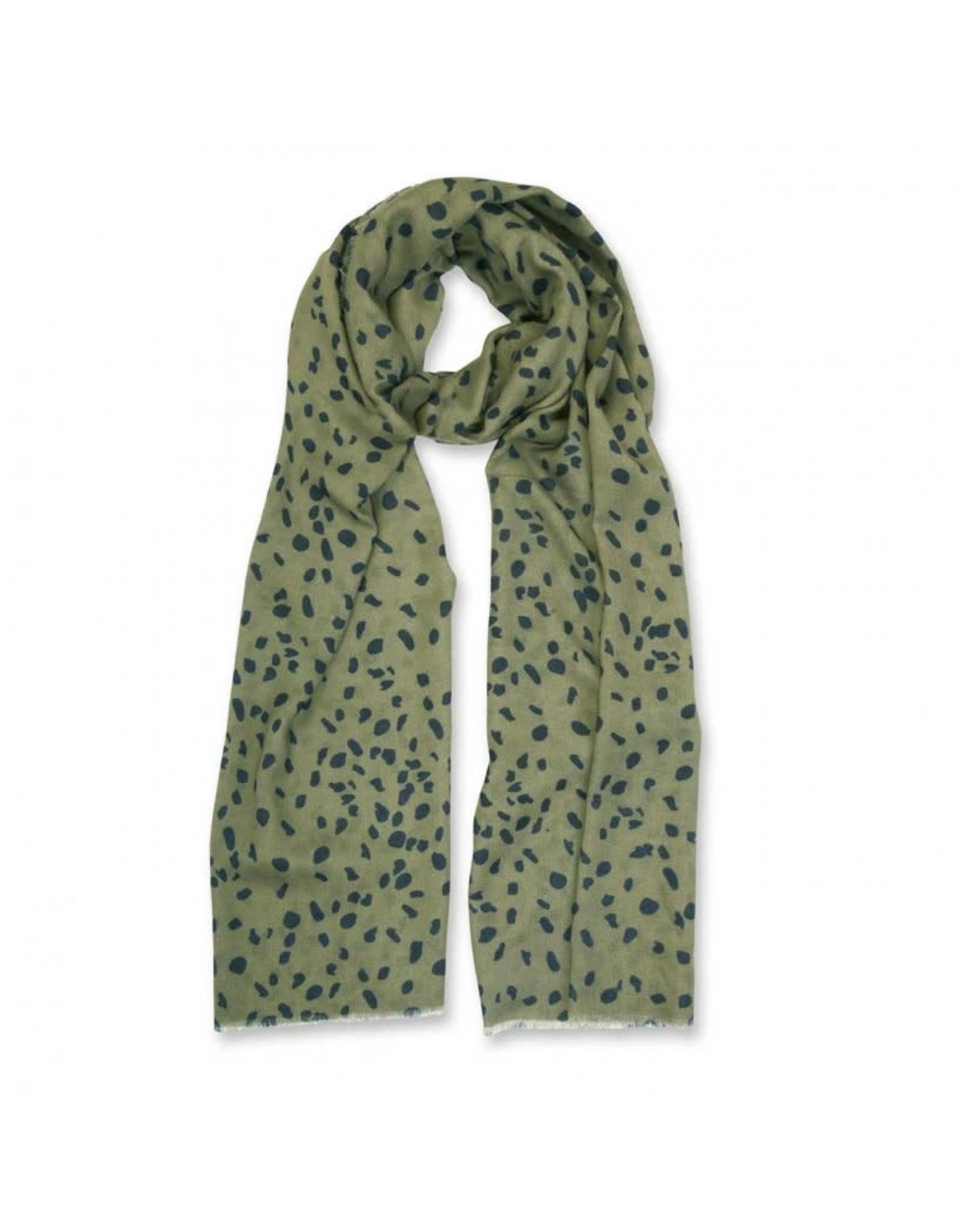 Katie Loxton Sjaal - Leopard Print - Zwart & Khaki