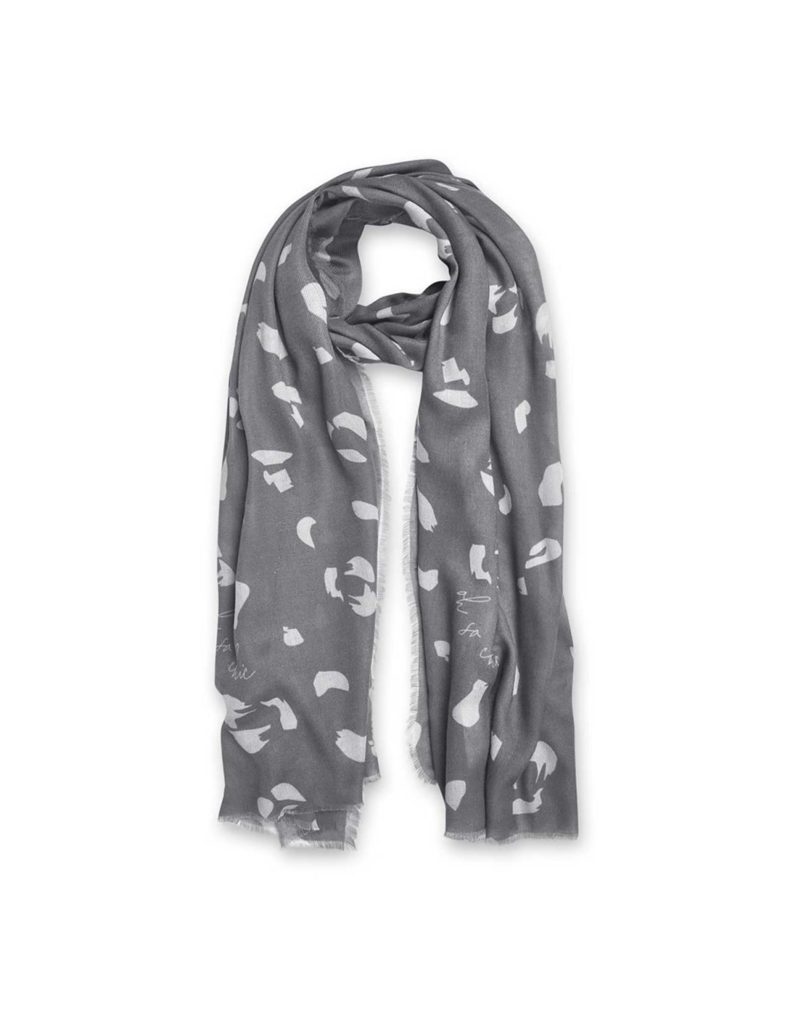 Katie Loxton Sjaal - Leopard Print - Grijs