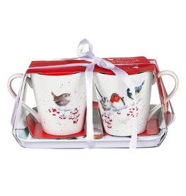 Wrendale Set Mokken & Tray - Christmas