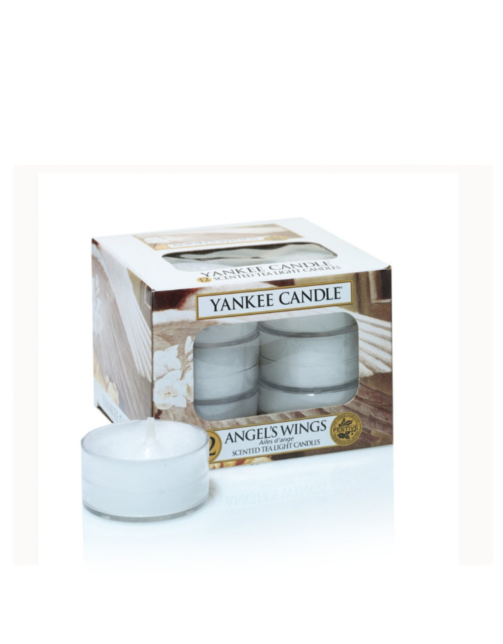 Yankee Candle Angel's Wings Tea Light 12 st