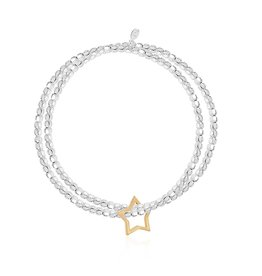 Joma Jewellery Lila - Dubbele Armband - Star