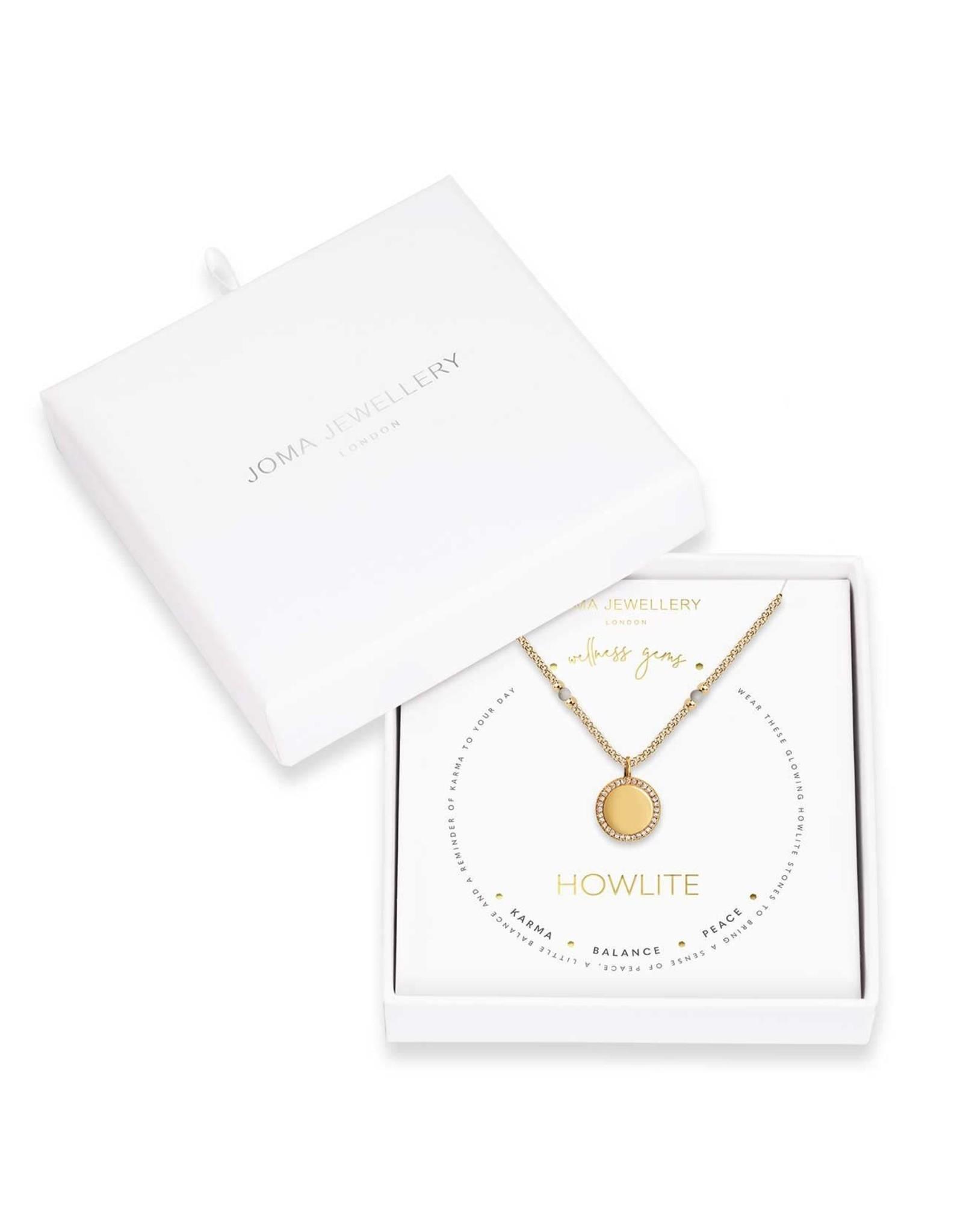 Joma Jewellery Wellness Gems - Howlite - Ketting