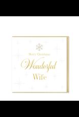 Hearts Design Merry Christmas Wonderful Wife