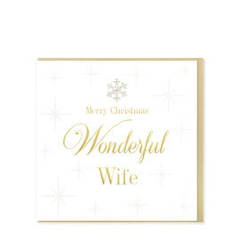 Hearts Design Merry Christmas Wonderful Wife