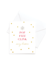 Hearts Design Wenskaart - Pop Fizz Clink - Merry Christmas