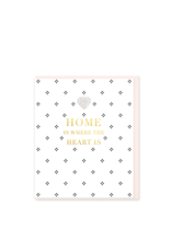 Hearts Design Wenskaart - Home is where the Heart is