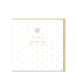 Hearts Design Wenskaart - With deepest Sympathy