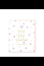 Hearts Design Wenskaart - Pop Fizz Clink - Congratulations