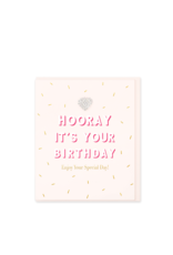 Hearts Design Wenskaart - Hooray! It's your Birthday
