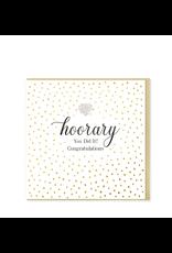 Hearts Design Wenskaart - Hooray! Congratulations