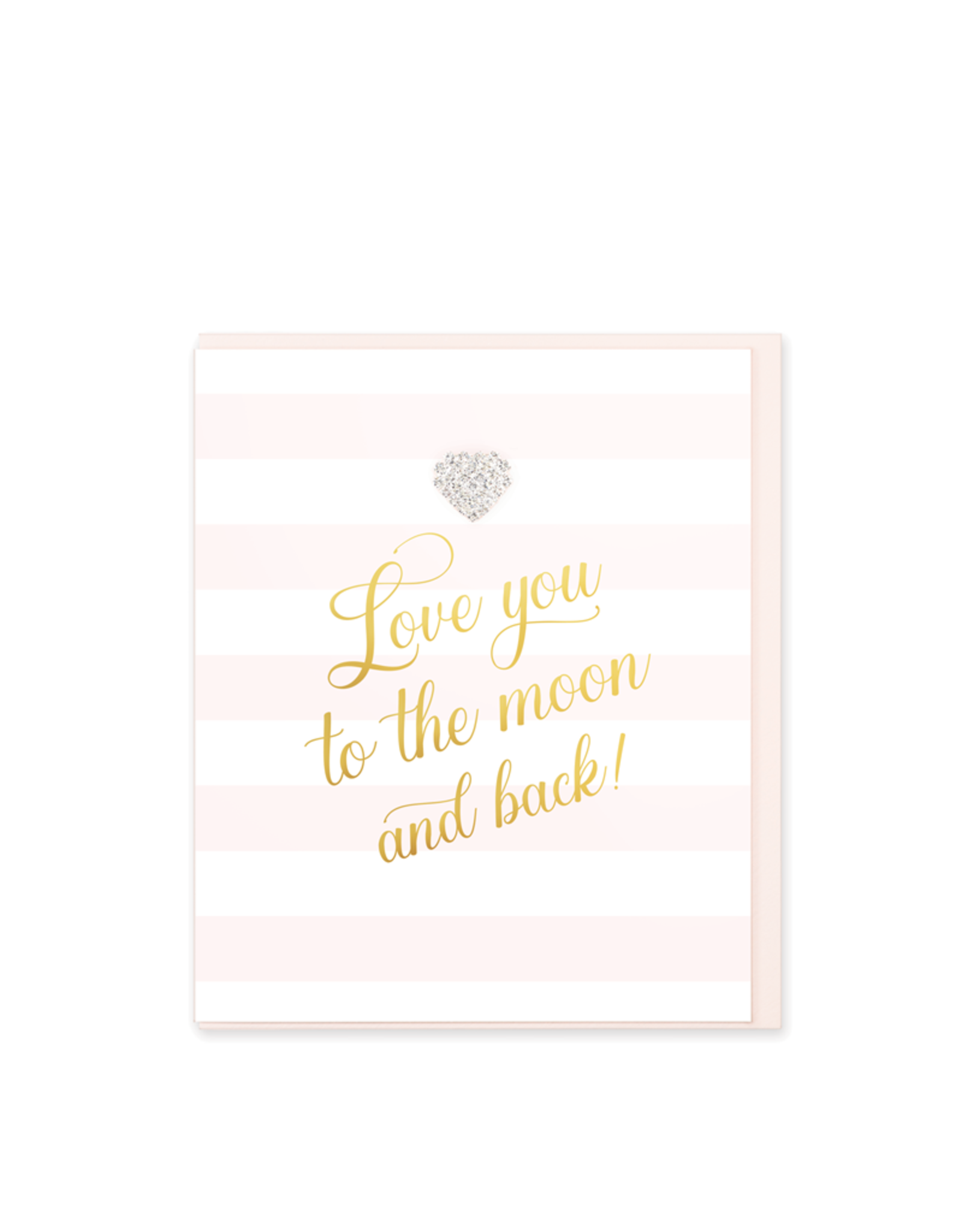 Hearts Design Wenskaart - Love you to the Moon & Back
