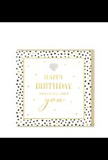 Hearts Design Wenskaart - Happy Birthday
