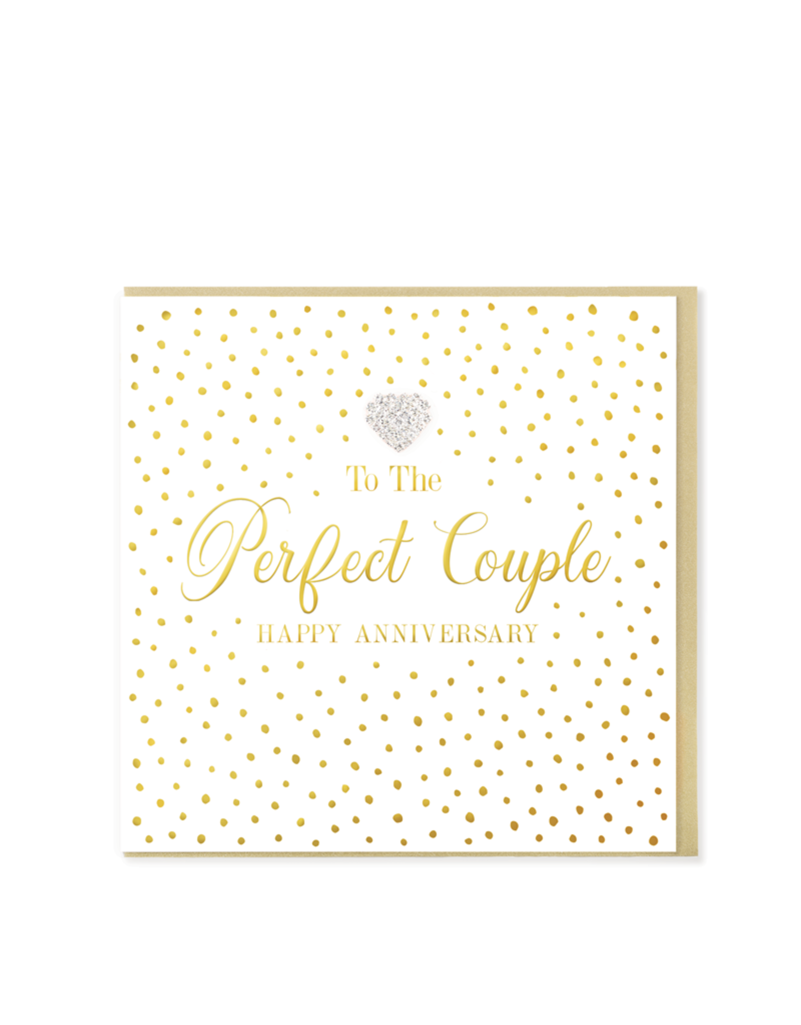Hearts Design Wenskaart - To the Perfect Couple - Happy Anniversary