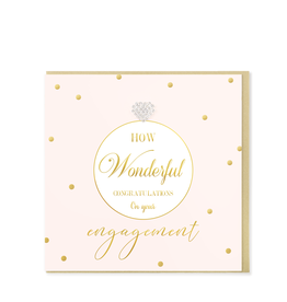Hearts Design Wenskaart - Congratulations on your Engagement