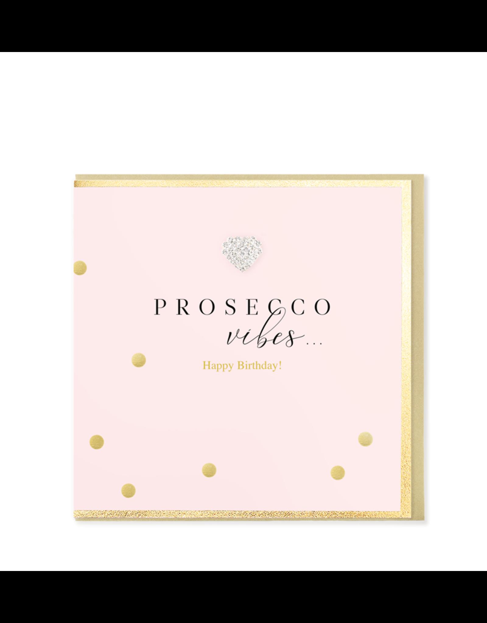 Hearts Design Wenskaart - Prosecco Vibes... Happy Birthday
