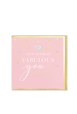Hearts Design Wenskaart - Let's Celebrate Fabulous You! Happy Birthday