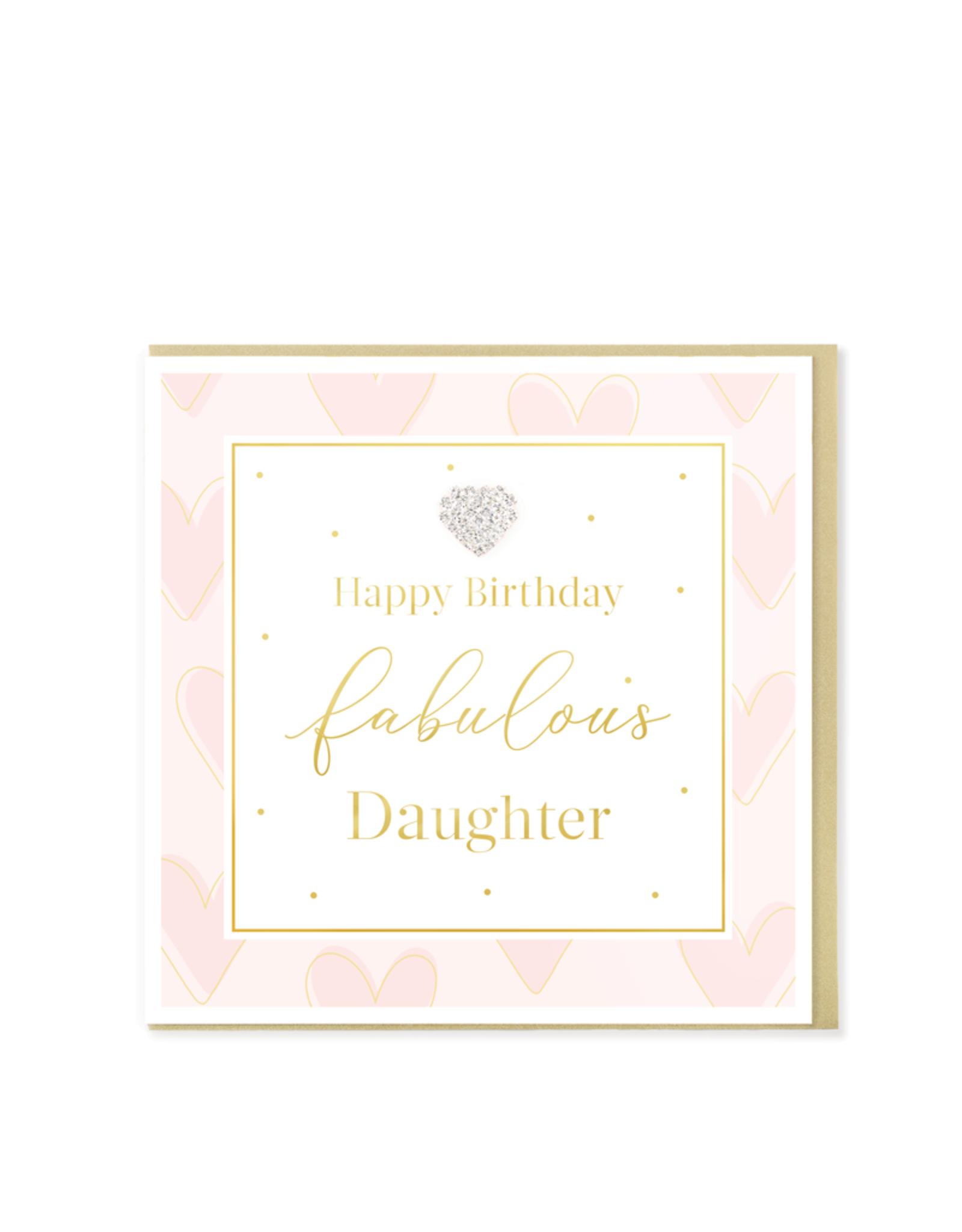 Hearts Design Wenskaart - Happy Birthday Fabulous Daughter