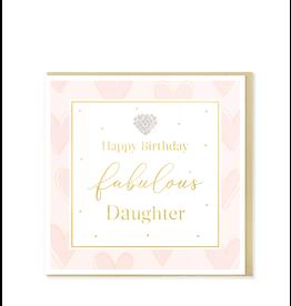 Hearts Design Wenskaart - Happy Birthday Fabulous Daughter
