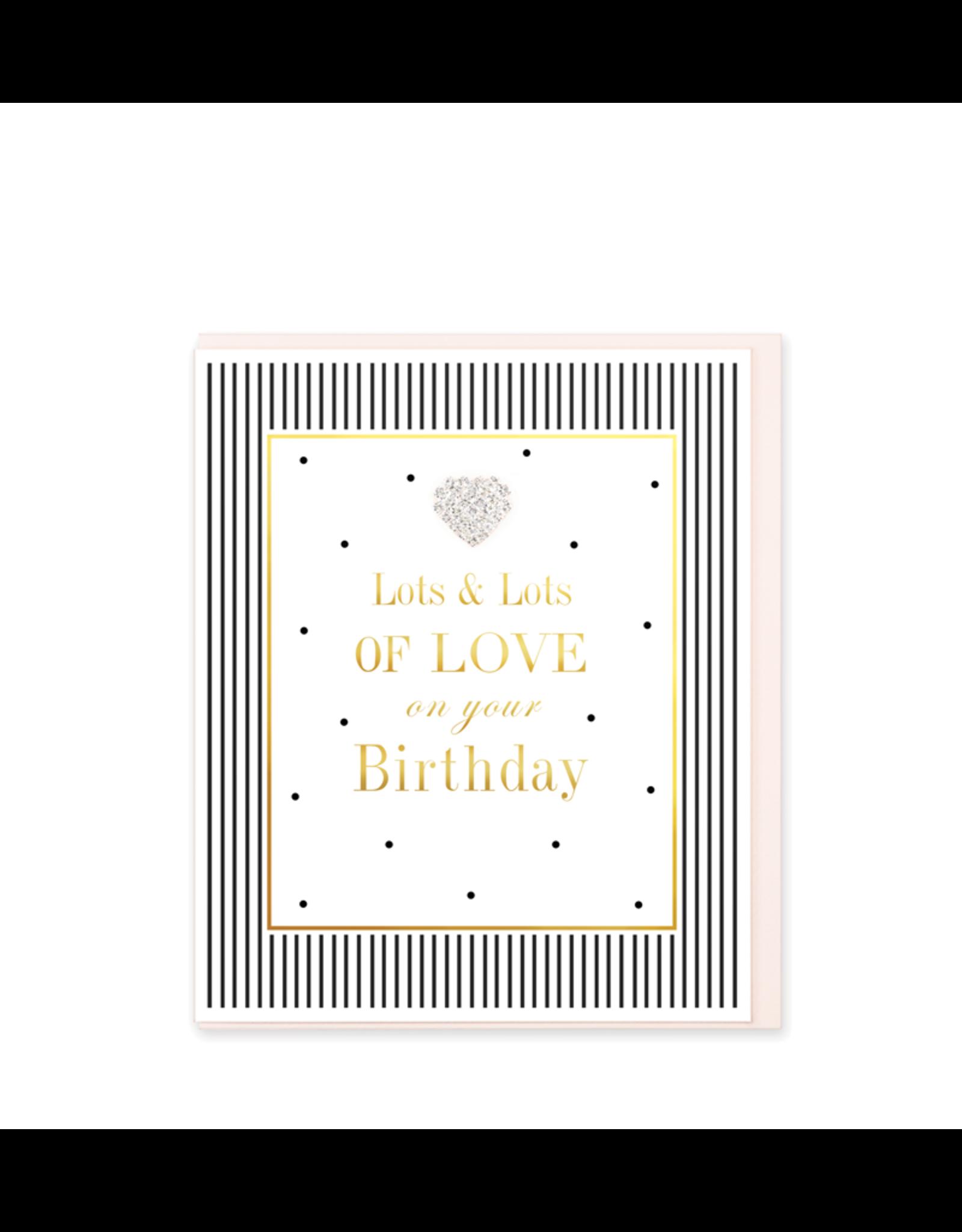 Hearts Design Wenskaart - Lots of Love on your Birthday