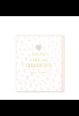 Hearts Design Wenskaart - Let's eat Cake & Celebrate