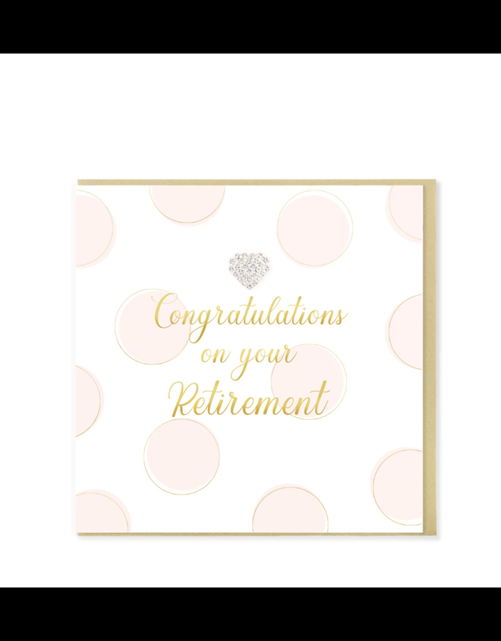 Hearts Design Wenskaart - Congratulations on your Retirement