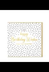 Hearts Design Wenskaart - Happy Birthday Wishes