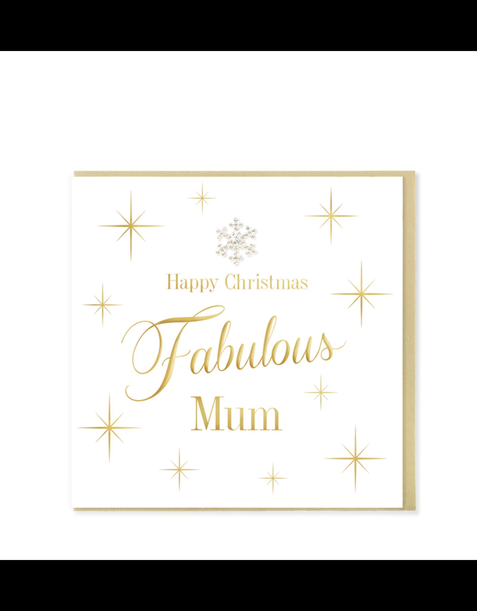 Hearts Design Wenskaart - Happy Christmas Fabulous Mum