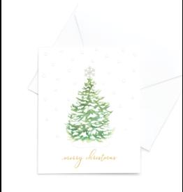 Hearts Design Wenskaart - Merry Christmas - Tree