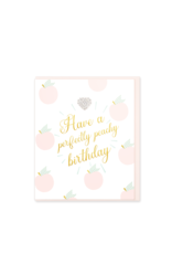 Hearts Design Wenskaart - Have a Peachy Birthday