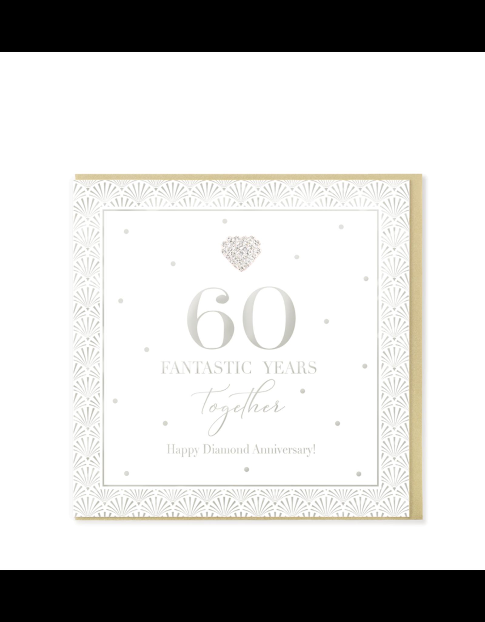 Hearts Design Wenskaart - 60 Fantastic Years Together