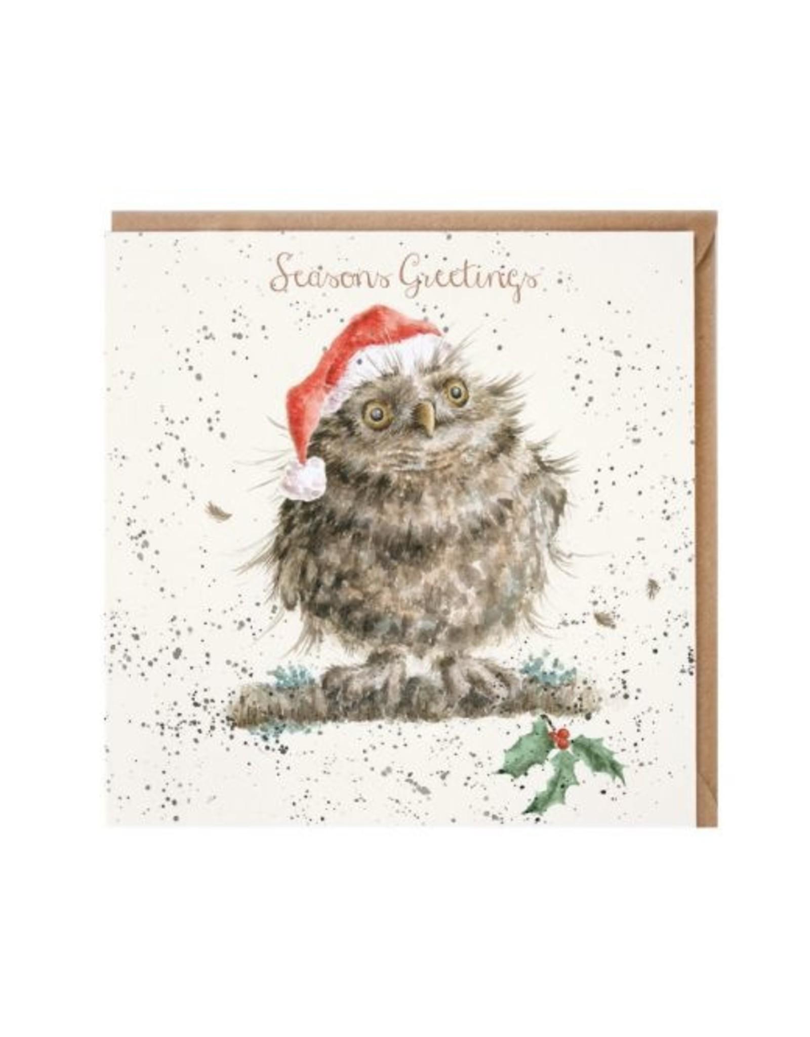 Wrendale Wenskaart - Christmas Owl