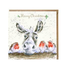 Wrendale Wenskaart - The Christmas Donkey