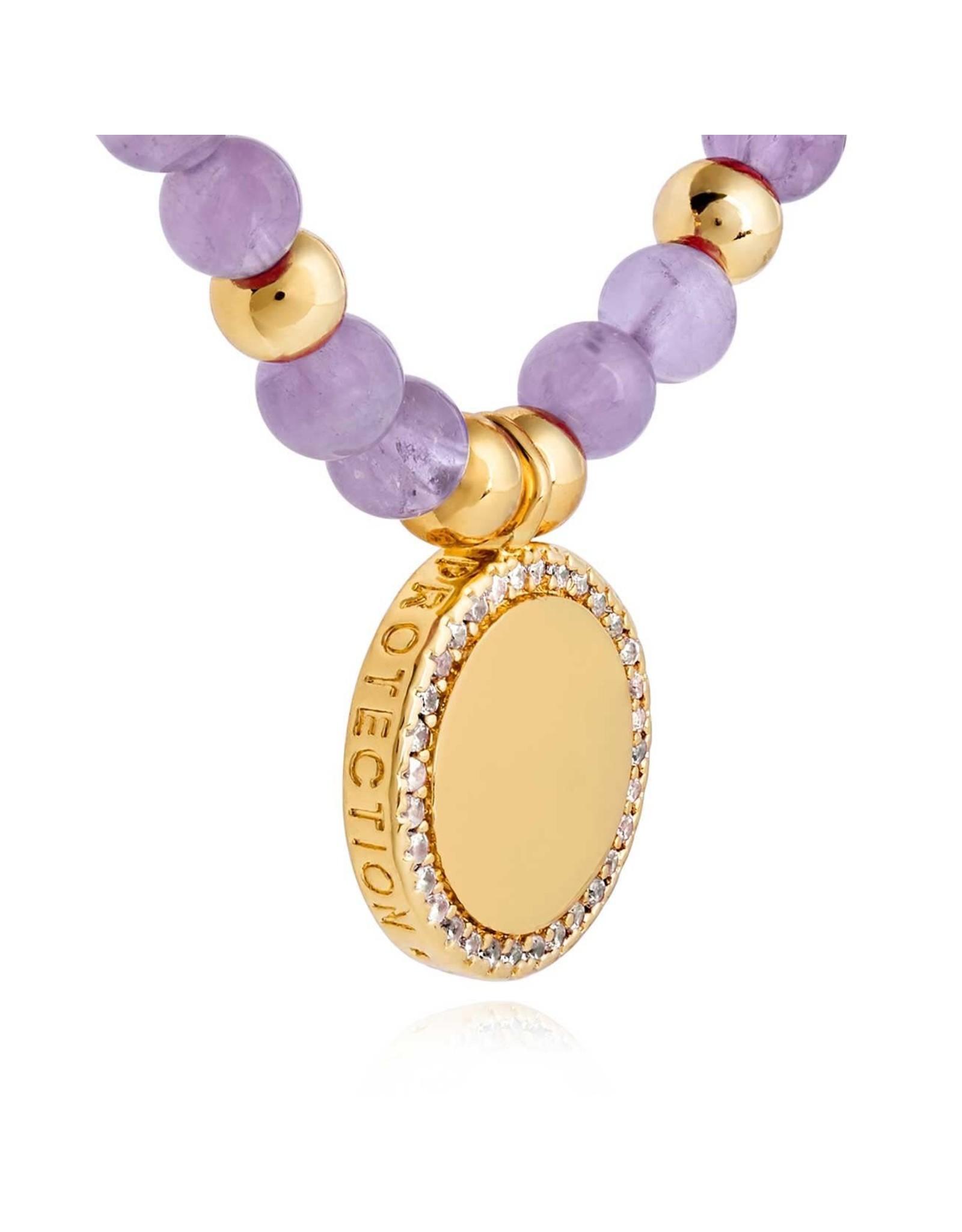 Joma Jewellery Wellness Gems - Amethyst  - Armband