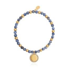 Joma Jewellery Wellness Gems - Blue Lace Agate  - Armband