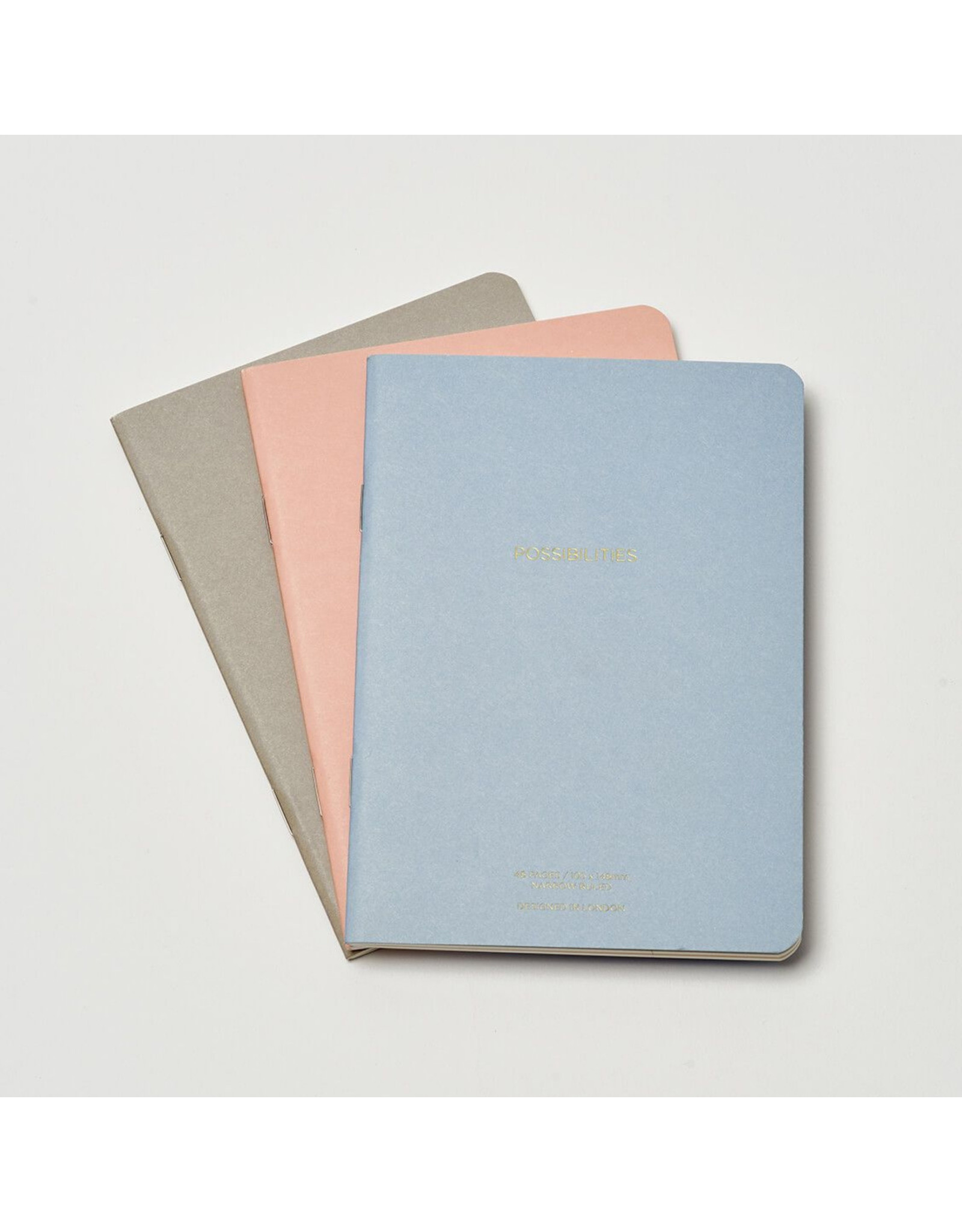 Estella Bartlett Notebook Set A6 - Blush, Powder Blue & Grey