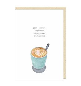 Eva&Lies Wenskaart - Koffie
