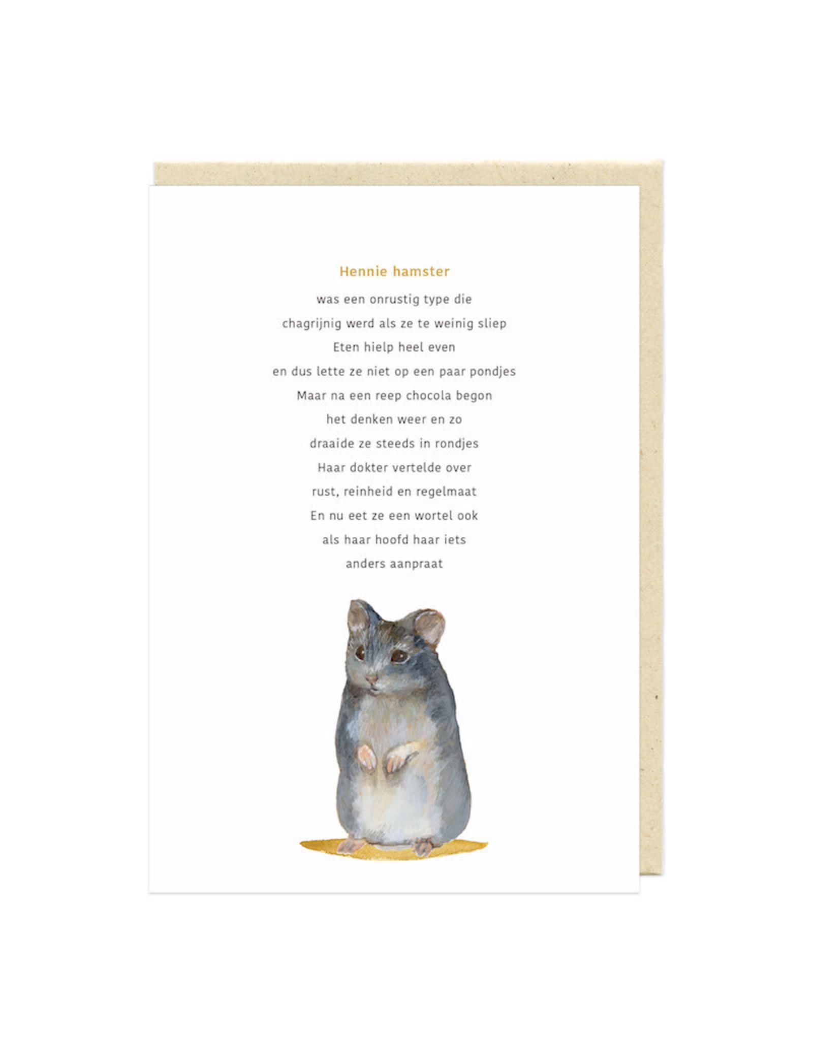 Eva&Lies Wenskaart - Hennie Hamster